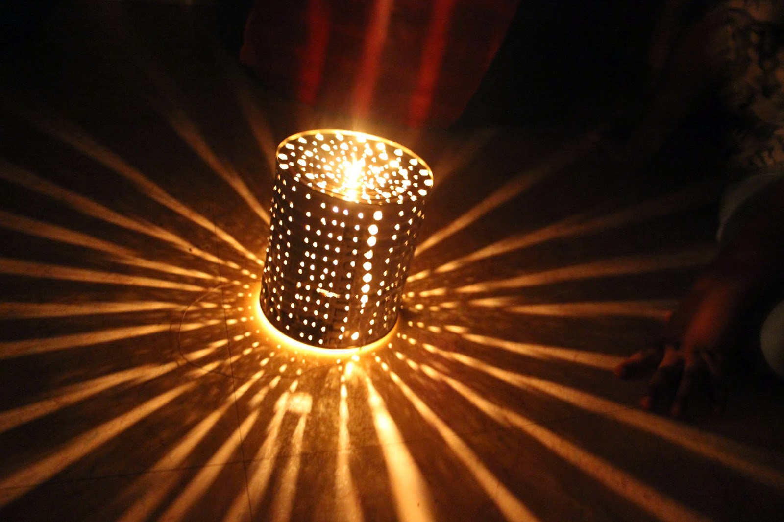 Tin can lantern update to see how to make