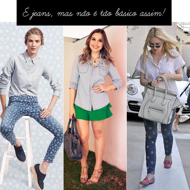 corosão, moda, estilo, jeans, casual, estampa