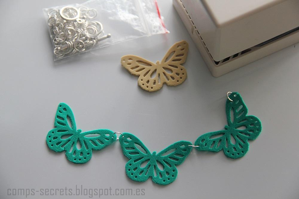 Comp\'s Secrets: Collar de Mariposas (Goma Eva y Troqueladora)