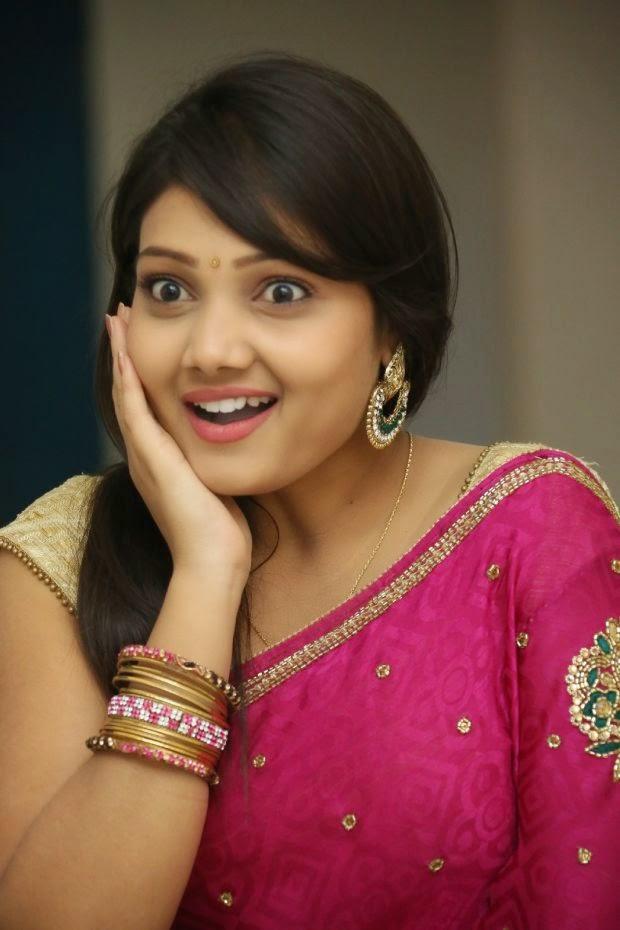Telugu Actress Priyanka Beautiful Saree Stills Movie Galleries