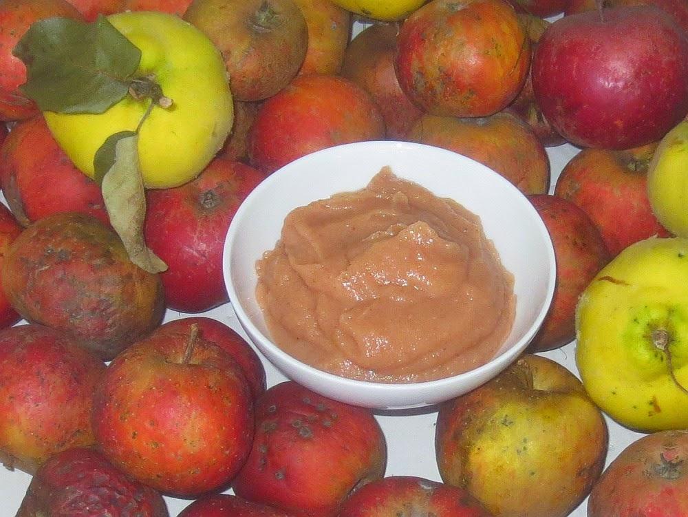 Selbstgemachtes Apfel-Quitten-Mus