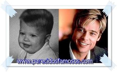 Brad Pitt otra foto antes y después