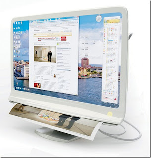 multitouch monitor with scanner and printer