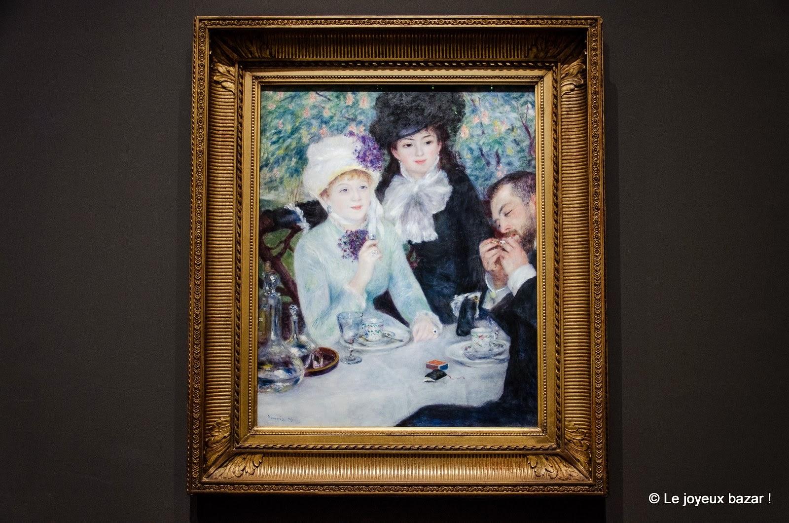 Pierre-Auguste Renoir Fin de déjeuner 1879 Huile sur toile, 100,5 x 81,3 cm Franckfort-sur-le-Main, Städel museum