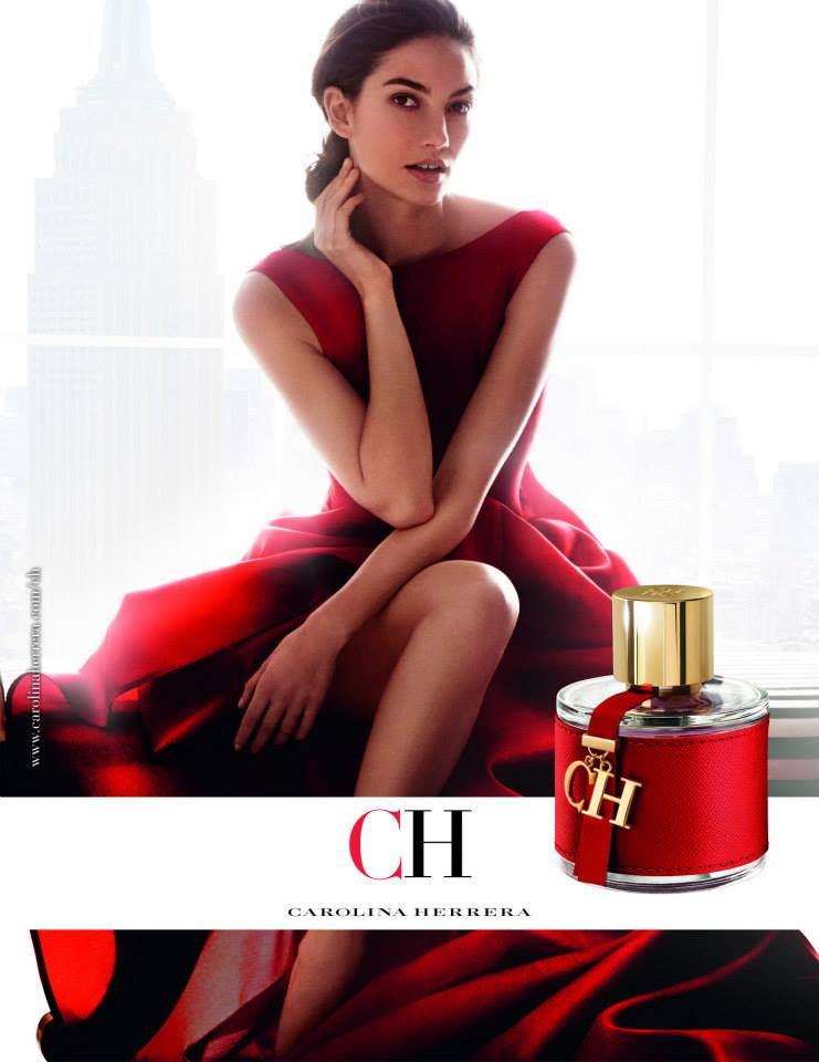 Lily Aldridge smoulders for Carolina Herrera CH Fragrance Campaign 2015