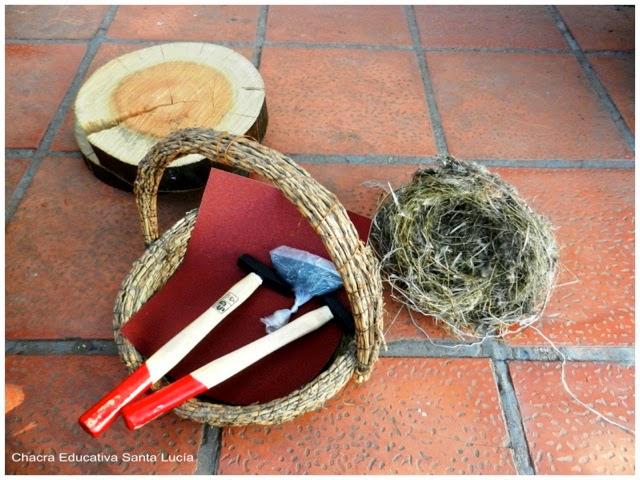 Construcción de nidos y casitas de pájaros - Chacra Educativa Santa Lucía