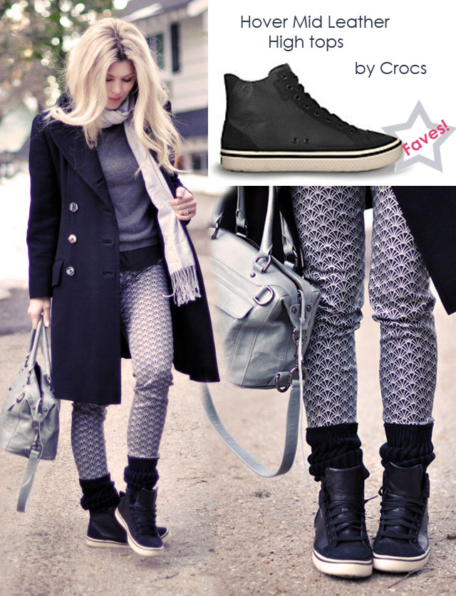 cute leather high tops for women, crocs