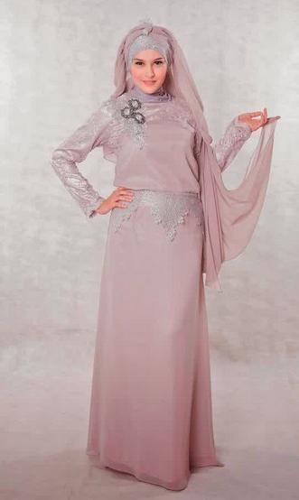 Desain Gaun Muslim Model Terbaru 2015