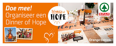 Organiseer een Dinner of Hope voor Orange babies
