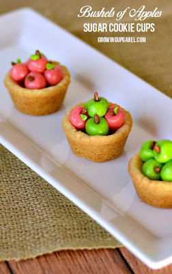Apple Basket Sugar Cookie Cups, shared by Growing Up Gabel
