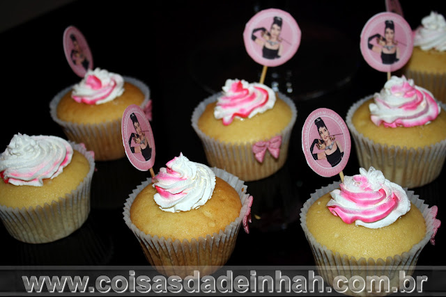 Encontro for Ladies do Studio de Moda cupcakes Audrey Hepburn
