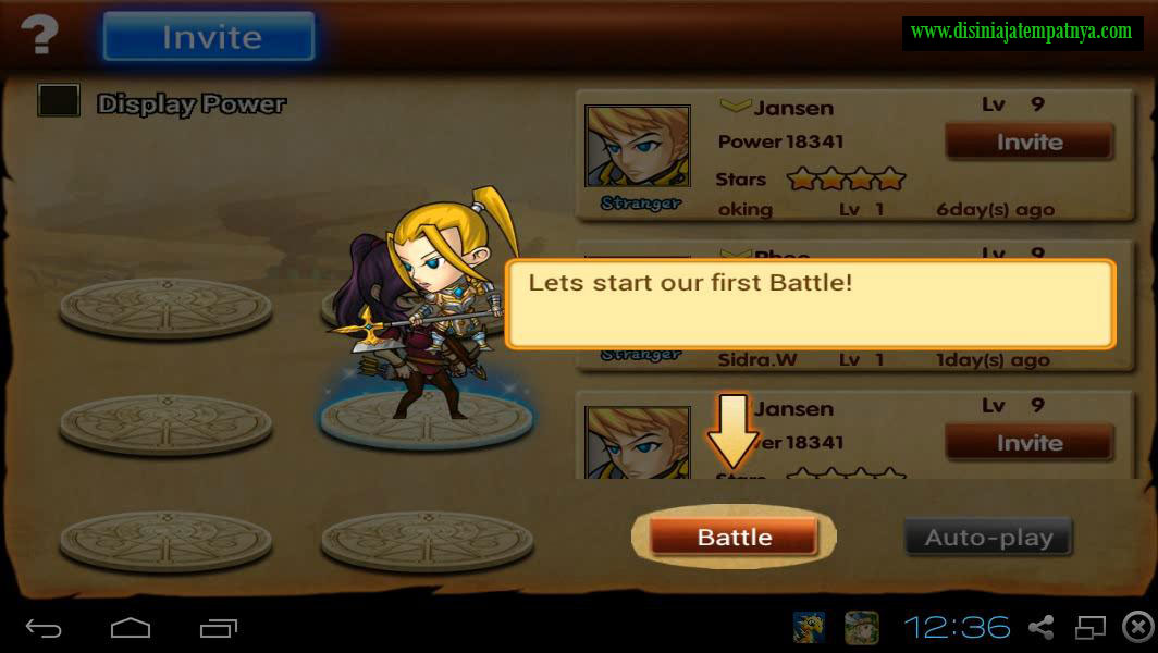 Battle Menu