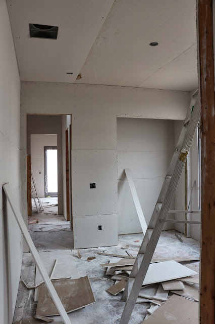 hanging drywall