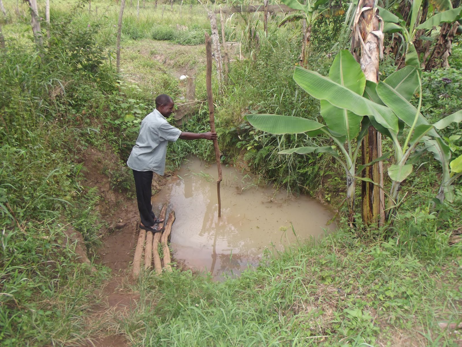 The source of water for 600 people