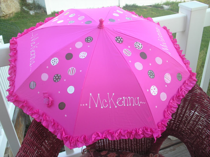 hot pink polka dots with brown, white and pink