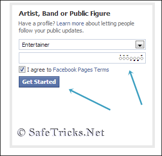 how to create facebook check in on pc