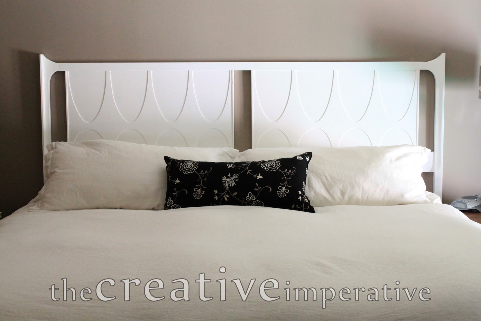 The creative imperative white painted headboard for Painted headboard
