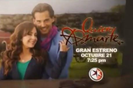 "Tercer promocional de la telenovela... ""Quiero amarte"""