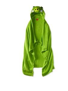 MyHabit: Up to 60% off Batman, Spiderman, Hello Kitty: Hooded Blankets - Green Pig Hooded Blanket (Big Kid)