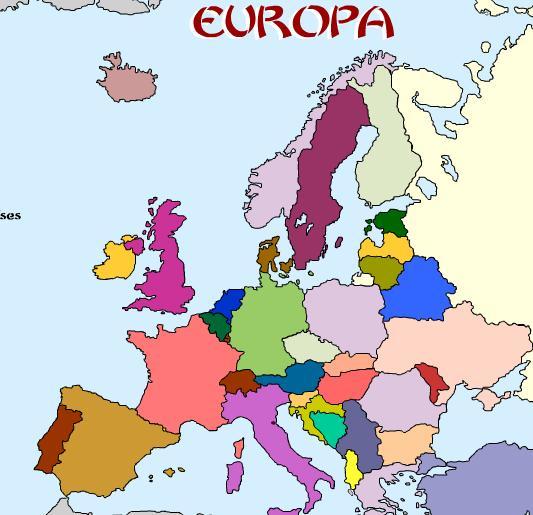Ciencias Sociales: Mapa de Europa