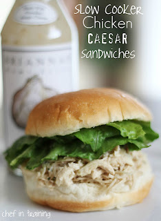 slow cooker recipes, chicken, caesar salad