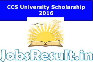 CCS University Scholarship 2016