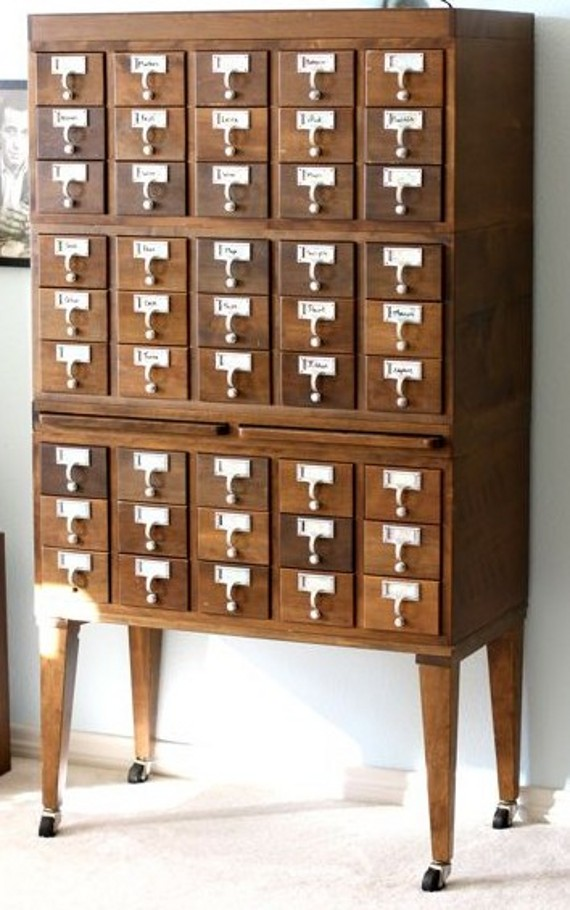 vintage card catalog inspiration