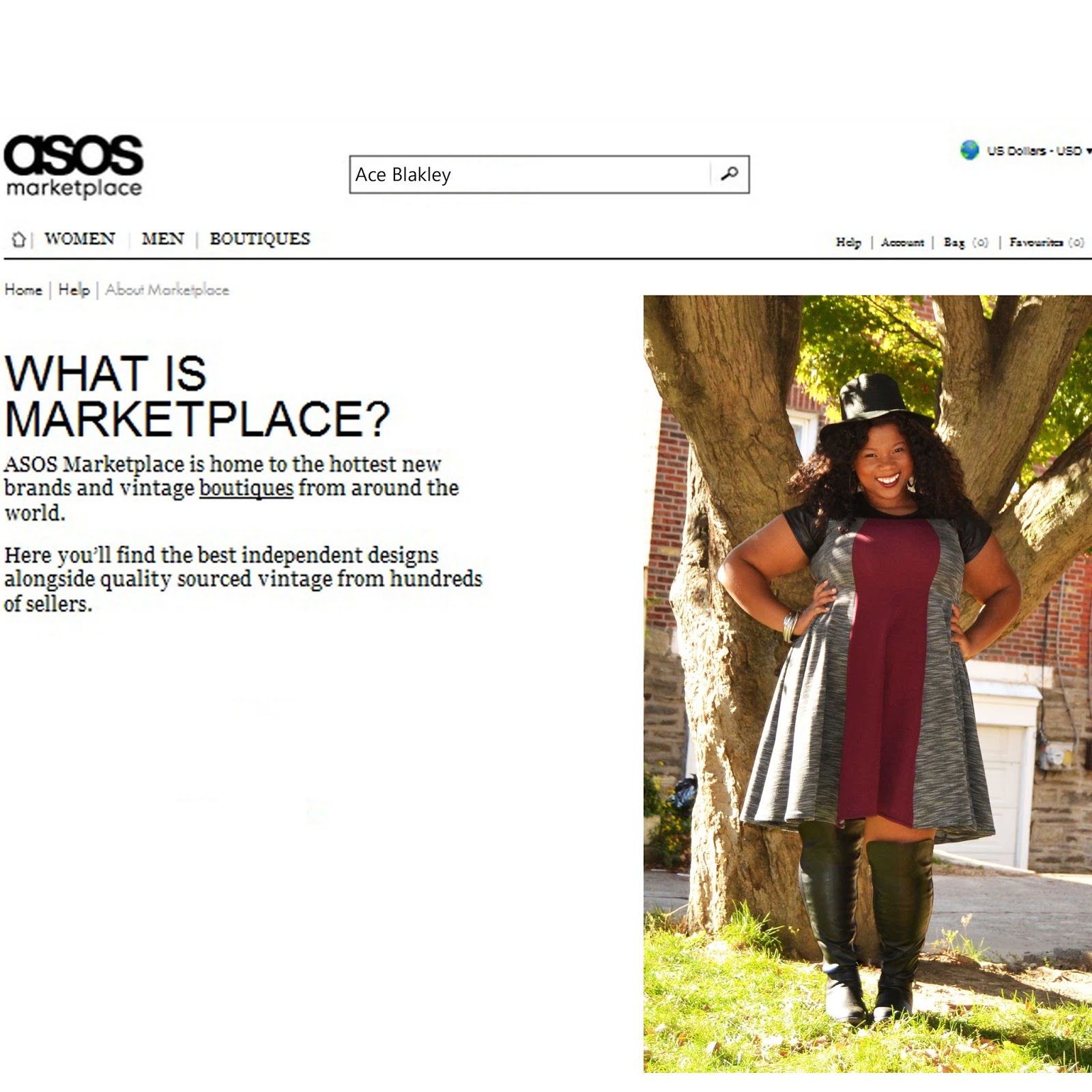 ace blakley on asos marketplace