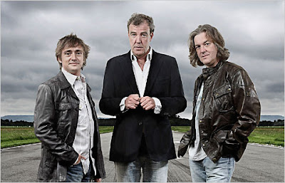 I tre conduttori di Top Gear: Rchard Hammond, Jeremy Clarkson e James May
