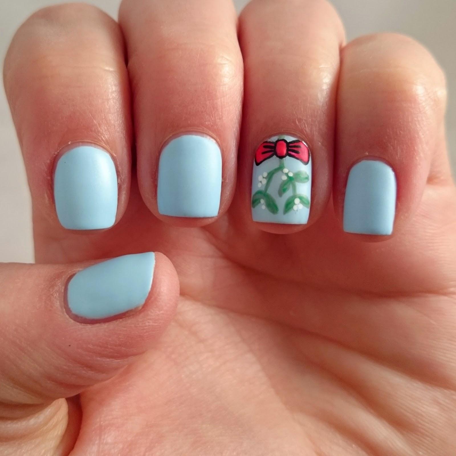 Dahlia Nails Underneath The Mistletoe