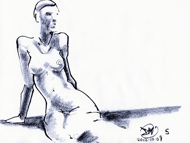 5 Minute sketch of nude by David Meldrum