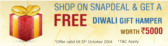 Shop on Snapdeal and Get gift hamper worth Rs 5000