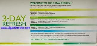 www.alysonhorcher.com, 3-Day Refresh, natural cleanse, natural detox, break bad eating habits, what is the 3-day Refresh