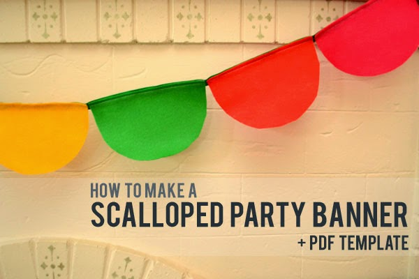 How to make a Scalloped Felt Party Banner (with free PDF template)