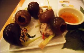escargots from wrap & roll