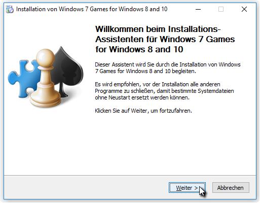 windows 10 spiele installieren