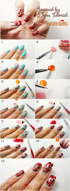 Lacqueerisa: Inspired by Dress Nail Tutorial