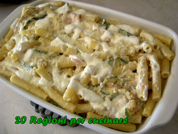 20 regioni per cucinare pasta gratinata alle zucchine for Cucinare per 20 persone