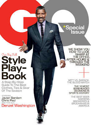 Denzel Washington on cover of GQ Magazine