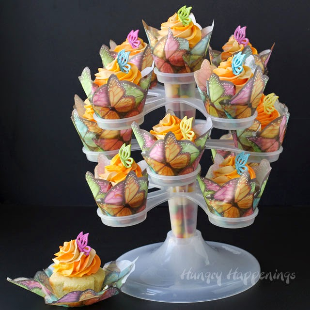 Mother s Day Treats - Peach Cobbler Butterfly Cupcakes ...