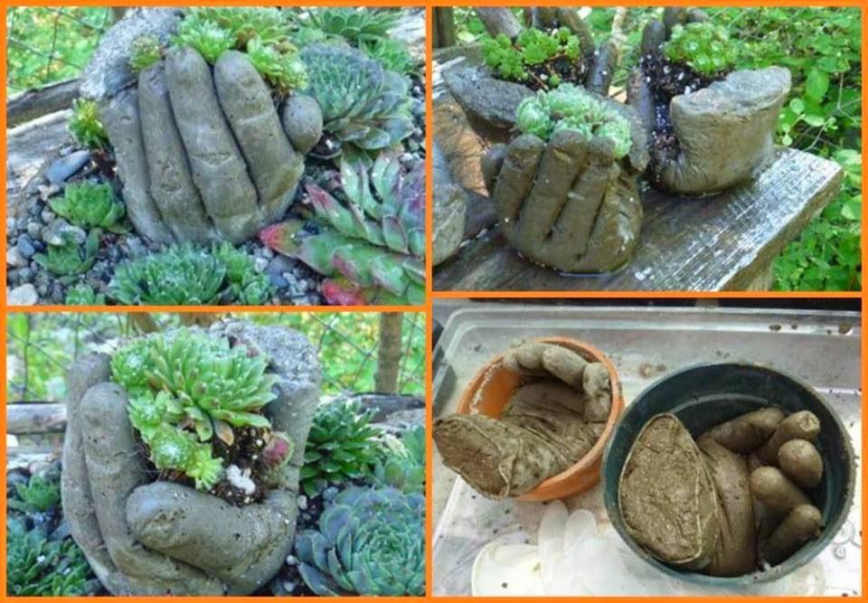 Сделать поделки для сада своими руками фото