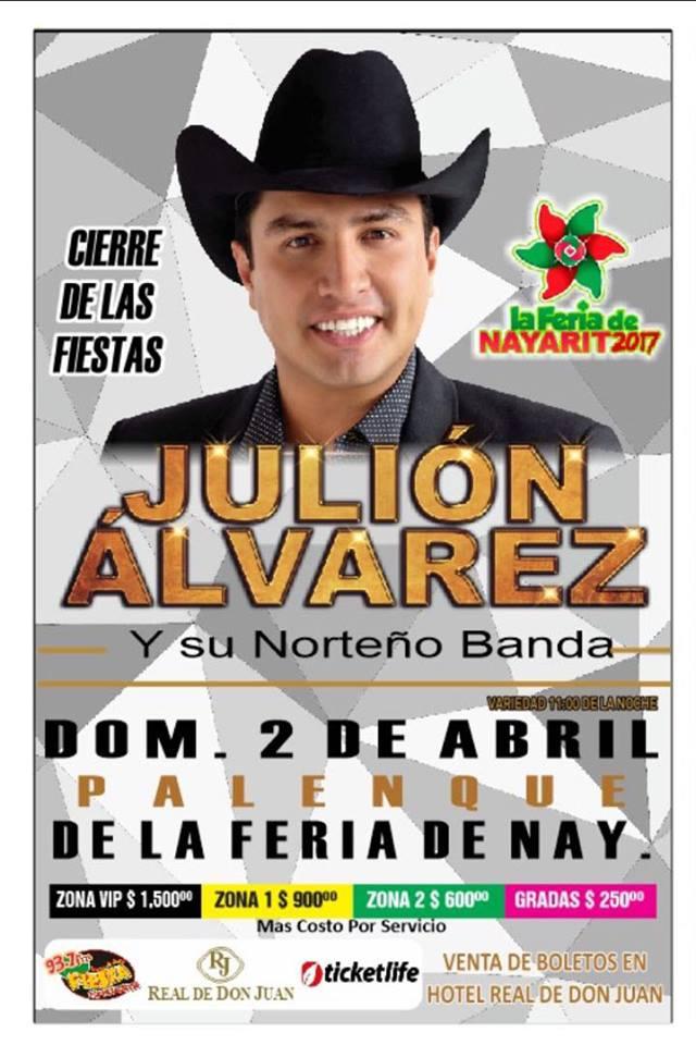 Julión Álvarez en la feria
