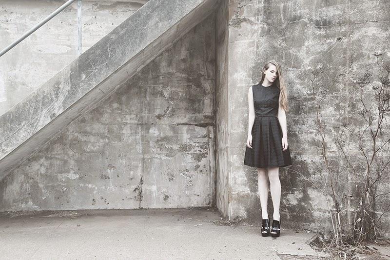 alyssa nicole, alyssa nicole signature collection, little black dress, couture, san francisco style, lookbook, pleated skirt, houndstooth print, black pleated skirt, little black dress, alyssa nicole dress, holiday dress, houndstooth print dress,