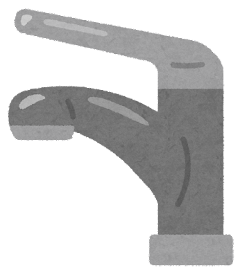 レバー式の蛇口のイラスト