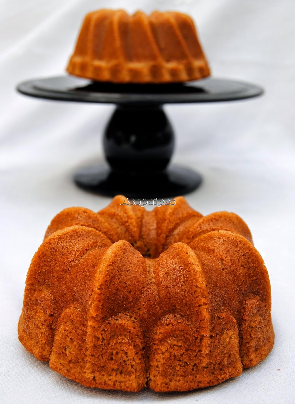Bizcocho casero Bundt Cake de Arroz con Leche