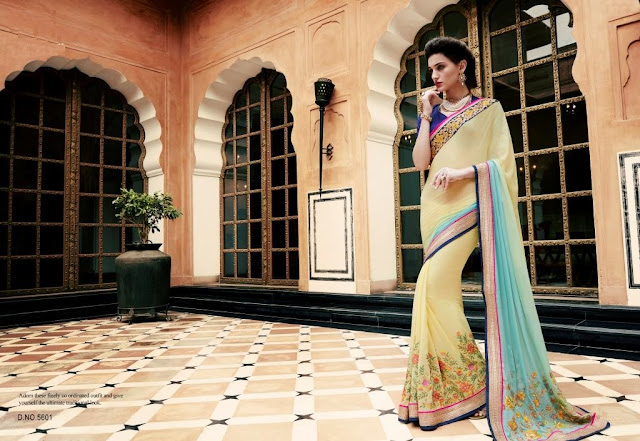 Kalistha Vol – 6 – Georgette Crepe With Heavy Lace Work Designer Saree