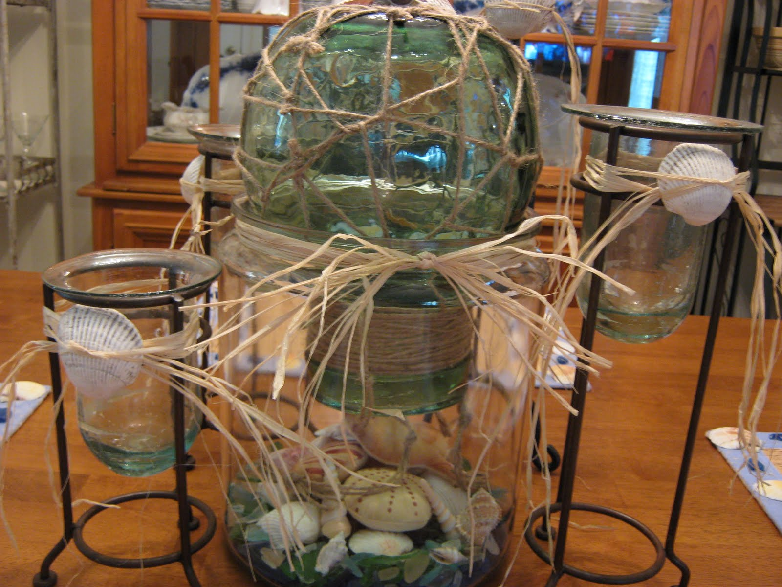 Fake it frugal nautical centerpiece with quot faked glass