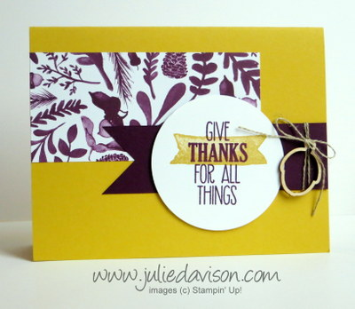 Stampin' Up! For All Things Thank You Card