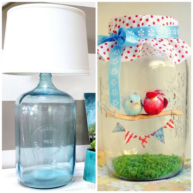 decoracao banheiro diy:DIY: Decoração com garrafas e potes de vidro!