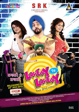 Poster Of Lovely Te Lovely 2015 300MB WebHD Full Punjabi Movie Watch Online Free Download